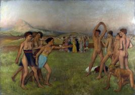 """""""Jóvenes espartanos practicando ejercicios"""", de Edgar Degas"""